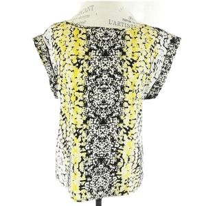 🧚Philosophy Medium Black and Yellow Blouse